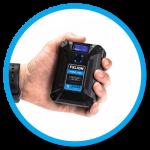 Illustrative image of hand holding Nano One Battery
