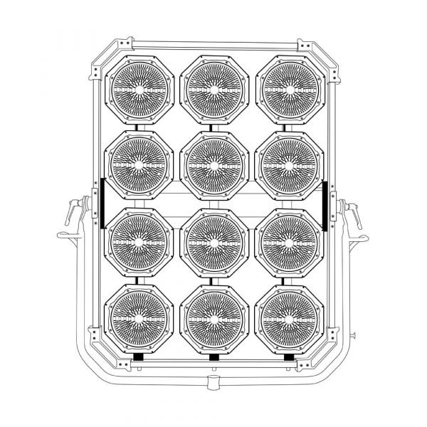 Lightstar LUXED-12 Bi-Color LED 2160W - drawing of lamp head