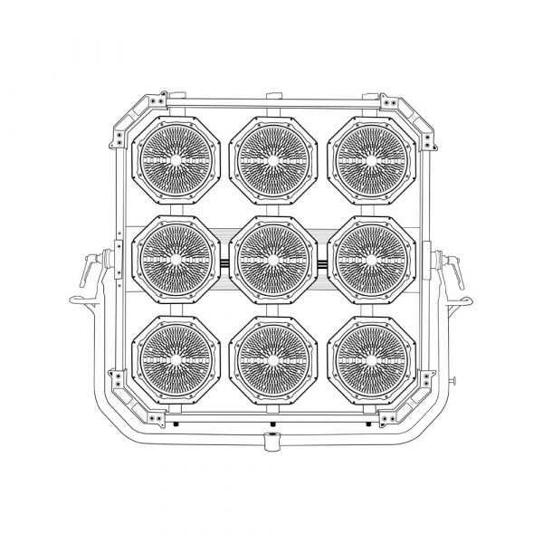Lightstar LUXED-9 Bi-Color LED 1620W - technical drawing of lamp head