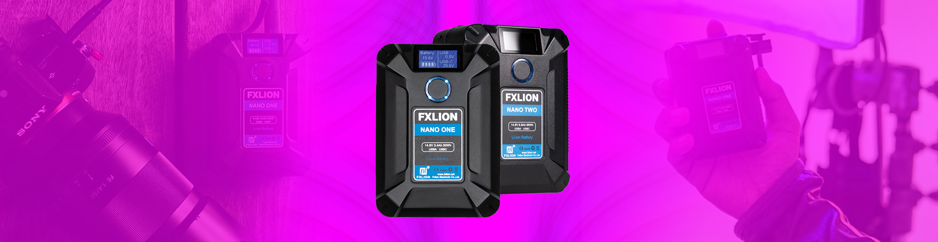 Hero Image of Fxlion Nano V-Mount Batteries