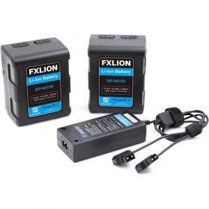 FXLION 148wh Square battery kit - 2 batteries + 1 Charger