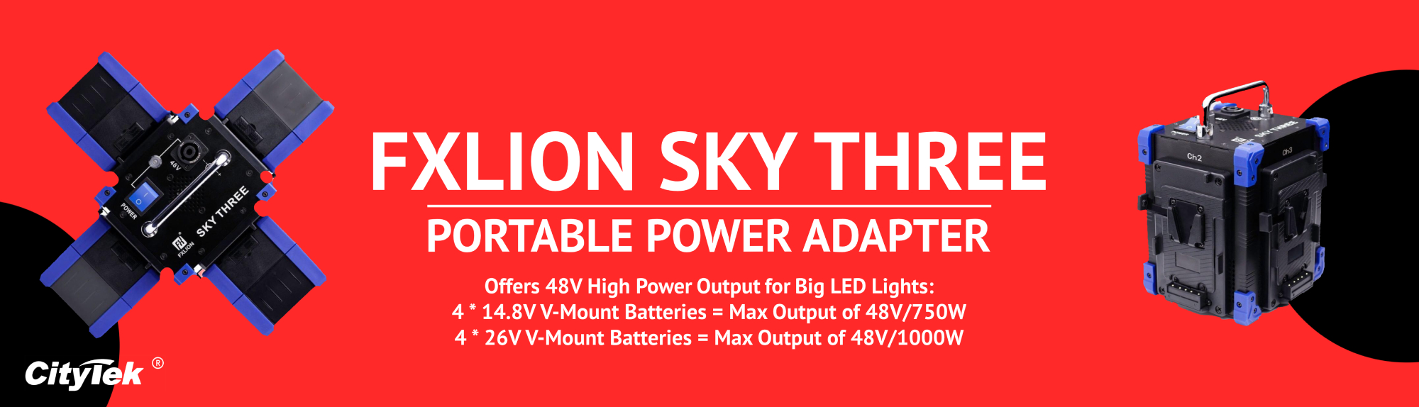 Fxlion Sky Three Power Adapter Banner